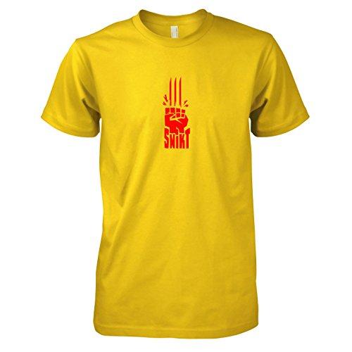 TEXLAB - Snikt - Herren T-Shirt Gelb