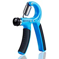 Hand Grip Exerciser, Strengthen Grip, Hand Squeezer, Forearm Grip, Hand Exercise, Gripper, Finger Strengthener, 10-40kg Adjustable Hand Grip Exerciser for Athletes and Musicians (Blue)