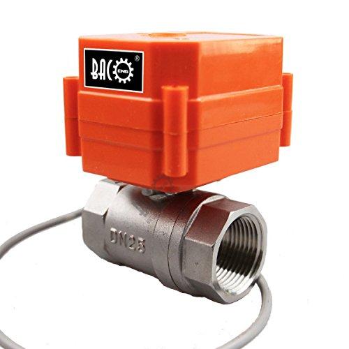 """bacoeng 1/5,1cm/3/10,2cm/2,5cm 2Wege SS304DC12V/24V Motorisierte Ball Ventil, teils offen Elektrische Steuerung Ventil BSP., 1"""" SS"""