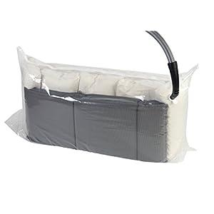 Wenko 3792767100 Vakuum Jumbo Cube XXL, Vakuum Aufbewahrungsbeutel, platzsparend, Polyethylen, 180 x 90 x 50 cm, transparent