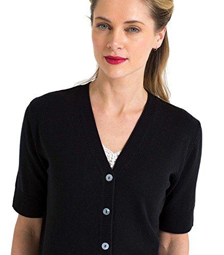 WoolOvers Cardigan à manches courtes - Femme - Soie & Coton Black