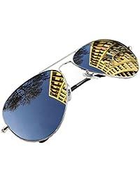Joven Polarized Gafas de sol aviador Kids en muchos combinaciones clásica Pilot Gafas unisex gafas de sol multicolor Silver Frame Silver Polarized Mirror 4sold