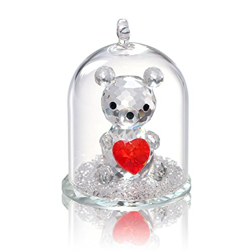 H&D Kristall Collection Figur Statue Tier Sammlerstück Clear-Bear