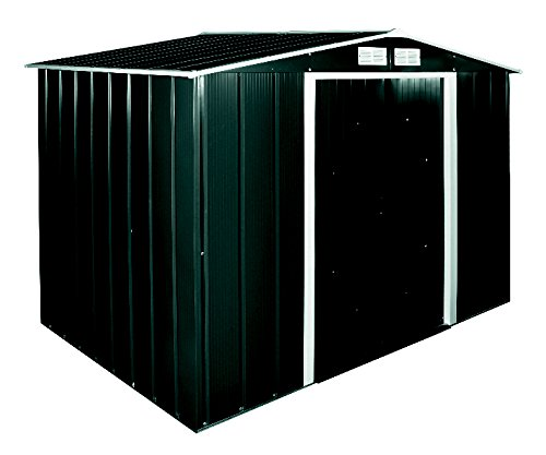 Tepro Metallgerätehaus Eco 8 x 6, anthrazit / weiß, 262 x 182.1 x 191 cm, 7239