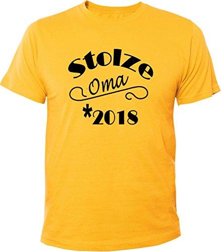 Mister Merchandise Herren Men T-Shirt Stolze Oma 2018 Tee Shirt bedruckt Gelb