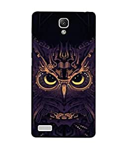 FUSON Designer Back Case Cover for Xiaomi Redmi Note :: Xiaomi Redmi Note 4G :: Xiaomi Redmi Note Prime (Big Eye Danger Perfect Owl Bird Mysterious)