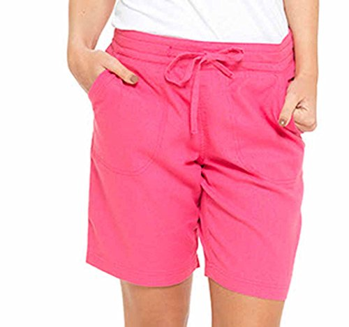 LADIES / WOMENS CASUAL LINEN COOL SHORTS, PERFECT FOR HOLIDAYS / SUMMER / BEACH