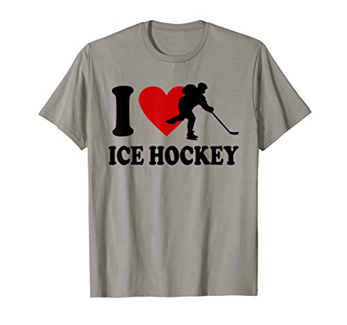 Eishockey T-Shirt I love Ice Hockey Shirt