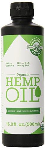 Certified Organic Hanföl, 16,9 Flüssigunzen (500 ml) - Manitoba Ernte