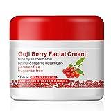 Noradtjcca Berry Gesichtscreme Mit Hyaluronsäure Parabenfrei Duftfreie Gesichtscreme Anti-Oxidation Anti-Aging-Hautstraffung