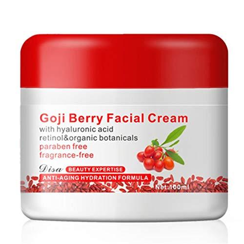 Noradtjcca Berry Gesichtscreme Mit Hyaluronsäure Parabenfrei Duftfreie Gesichtscreme Anti-Oxidation...