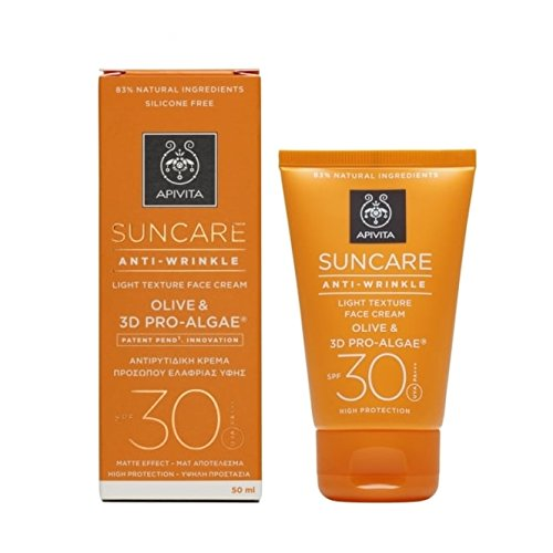 Apivita Suncare Anti-Wrinkle Light Texture Face Cream SPF 30 50ml