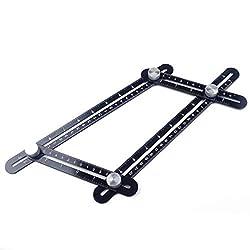 Black Angularizer Ruler Ultimate Template Multi Angle Measuring Tool Handymen