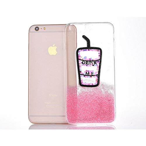 iPhone 7 Coque, Sunroyal [Liquid Crystal] Case Coque Housse Etui Ultra Mince Hybrid TPU Silicone,[Extrêmement Mince Souple et Flexible] [Peau Transparente] [Shock-Absorption Bumper et Anti-Scratch Eff Motif 01