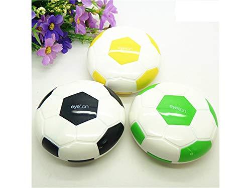 Young shinee Brillenetui Nette Fußball Form Kontaktlinsen Box Augenpflege Kit Box für Mädchen (zufällige Farbe) für Lesebrille