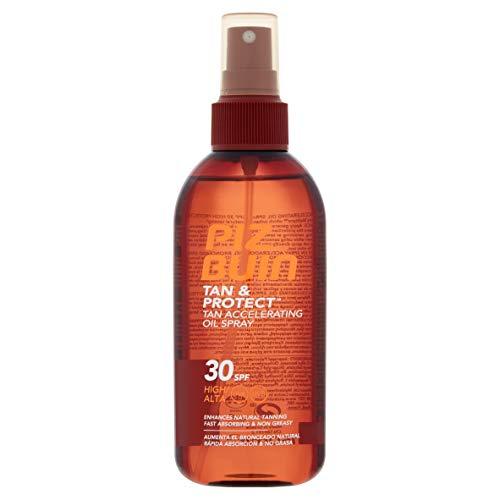 Piz Buin - Protección Solar, Aceite en Spray Tan & Protect Acelerador del Bronceado SPF 30 - Protección alta Spray...