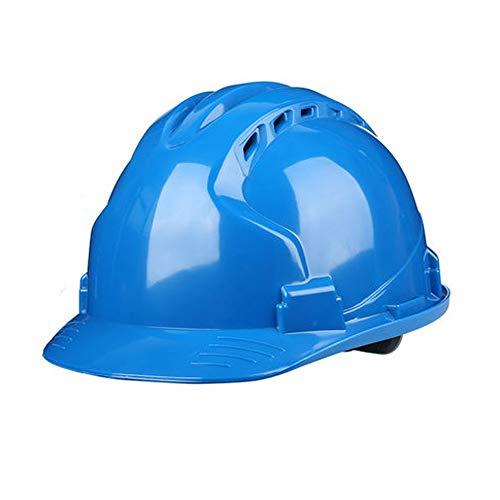 FeiQiangQiang Bauhelm-Hard Non-Vented Hat Sicherheits-Schutzhelm Persönliche Schutzausrüstung 4-Punkt-Ratchet Suspension Einstellbare Helm Helm mit Schutzhelm (Color : Black blue) -