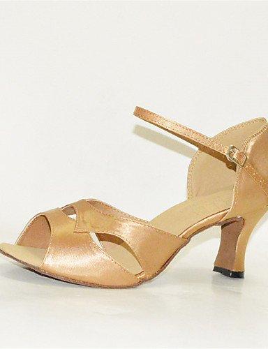 La mode moderne Sandales femmes personnalisables Chaussures de danse latine Satin/Jazz/Swing/chaussures sandales talons Salsa/HeelPractice personnalisés/Débutant US4-4.5/EU34/UK2-2.5/CN33