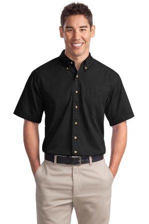 Port Authority® Short Sleeve Twill Shirt. S500T Black 4XL (Port Twill Shirt Authority)