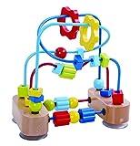 Tooky Toy TKC315 - Kleine Motorikschleife mit Bunten Schiebe-Elementen und Farbigen Schleifen