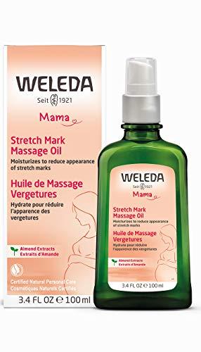 WELEDA Schwangerschafts-Pflegeöl, pflegendes Naturkosmetik Massageöl zur Vorbeugung- und Beseitigung von Schwangerschaftsstreifen am Bauch, Oberschenkel und an der Brust (1 x 100ml)