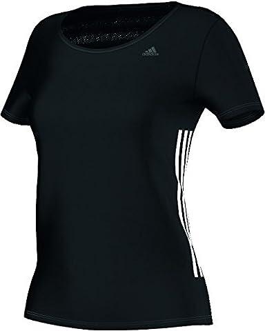 adidas Damen Workout T-Shirt, Schwarz/Weiß, XXL, AB5554