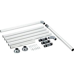Ruco V 770 – Barra para cortina de ducha (aluminio, diámetro: 25 mm)