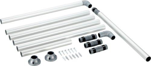 Badewanne Rail (RUCO V 770 Duschstange Aluminium, Durchmesser 25 mm)