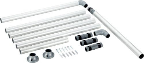 duschvorhang aufhaengung Ruco V 770 Duschstange Aluminium, Durchmesser 25 mm