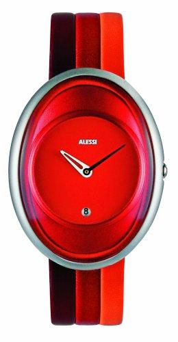 Alessi millenium 372AL19001 - Reloj de mujer de cuarzo, correa de piel color varios colores (con fecha)