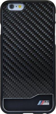 (P) BMW Coque carbone & aluminium pour Apple iPhone 6/6s, Noir