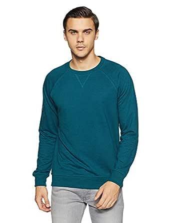 Amazon Brand - Symbol Men's Sweatshirt (AW18MNSSW22A_Fog Teal_XL)
