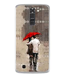PrintVisa Designer Back Case Cover for LG K7 :: LG K7 Dual SIM :: LG K7 X210 X210DS MS330 :: LG Tribute 5 LS675 (Background Silhouette Happiness Painting Landscape Lifestyle Beautiful Relations)