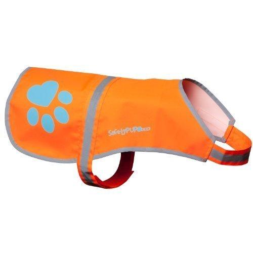 SafetyPUP XD Hund Warnweste, Größen Passen Hunde 14 lbs bis 130 lbs Blaze Orange Groß