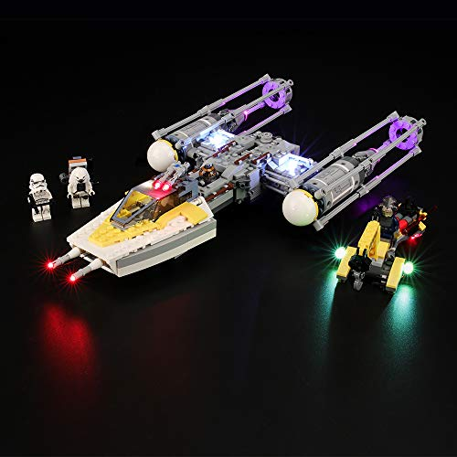 BRIKSMAX Kit de LED pour Lego Star Wars Y-Wing Starfighter, Compatible avec la Maquette Lego 75172, La Maquette de Construction n'est Pas Incluse