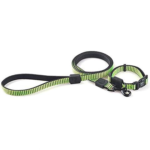 Jingzou Traction tissés convient à animaux domestiques chien Colliers chaînes courroies tirer deux-pièces