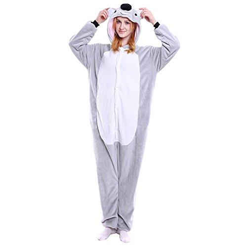 Imagen de m&a pijams koala animales franela disfraz cosplay para carnaval halloween navidad mujer hombre ropa de dormir m