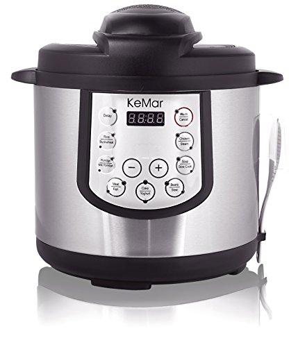 KeMar KPC-150 Kitchenware Schnellkochtopf, Schnellkocher, Edelstahltopf, 1000 W, 5 L