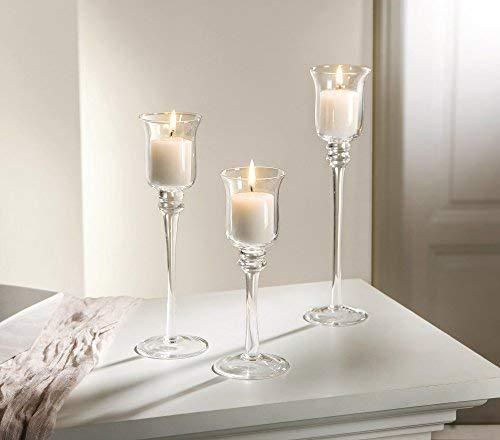3glaskerzenh windlicht Soporte de edad portavelas para velas (portavelas Soporte Decoración
