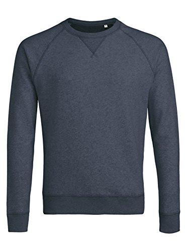 Herren Sweatshirt aus Bio-Baumwolle Mix mit 85% Baumwolle und 15% Polyester, Herren Bio Pullover, Pullover Bio, Herren Bio Sweatshirt,Sweatshirt Baumwolle (Bio) Dark Heather Blue