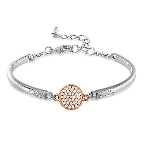 7952fa64185 GEORGE · SMITH ❤Mi Niña❤ Pulseras Oro Rosa para Mujer Brazalete Corazón Oro  Rosa