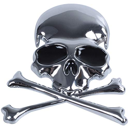 SODIAL(R) Metal 3d Wicked Skull Bone Forma motocicleta coche...