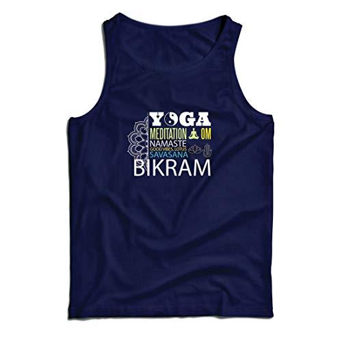 lepni.me Weste Yoga Meditation Om Good Vibes Lotus Savasana Bikram (XX-Large Blau Mehrfarben) -