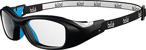 bollé Kinder Swag Sonnenbrille, Black/Electric Blue, Medium