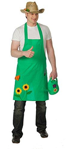 Happy Schürze Kostüm - Gartenschürze Schürze Garten grüner Daumen Applikationen Dekoelemente Gr. STD