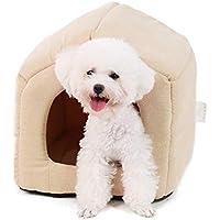 Ohana - Caseta Cuadrada 2 en 1 para Perro, Interior con Techo sofá Cama con