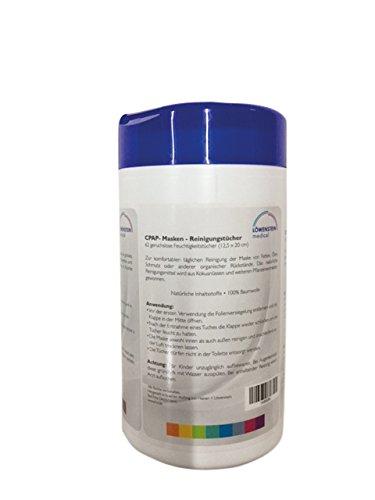 CPAP Reinigungstücher neutral 62 Stück Spenderbox