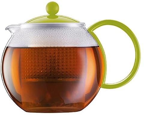 Bodum ASSAM Tea Maker (Plastic Strainer, Plastic Lid, 1.0 L/34 oz) - Green