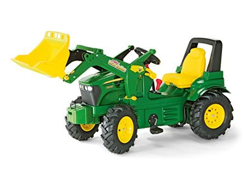 Rolly Toys 710126 rollyFarmtrac John Deere 7930 | Traktor mit abnehmbarem Lader | Trettraktor mit 2-Gangschaltung und Bremse, Luftbereifung; Sitzverstellung | ab 3 Jahren | Farbe grün