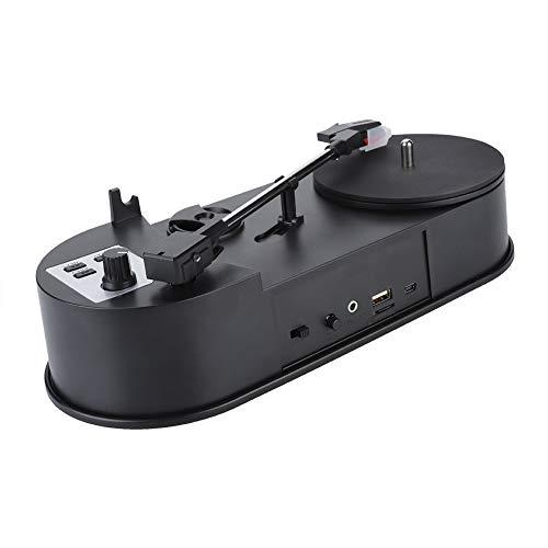 Tragbarer Plattenspieler, Vinyl-Plattenspieler mit MP3-Konverter mit 2 Geschwindigkeiten (33/45 U/min) USB-Konvertierung von Vinyl in MP3 (Plattenspieler Mit Konverter)
